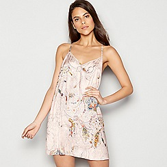 Nine by Savannah Miller - Pink paisley print satin chemise