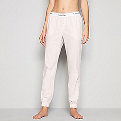 Calvin Klein - Light pink cotton pyjama bottoms