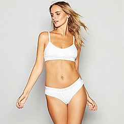 Calvin Klein - White cotton non-wired non-padded bralette