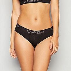 Calvin Klein - Black cotton bikini knickers
