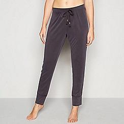 Nine by Savannah Miller - Dark grey cupro pyjama bottoms