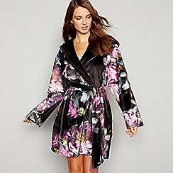 B by Ted Baker - Black floral print 'Sunlit' dressing gown