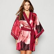 b3a7594655b11 B by Ted Baker - Red floral print  Porcelain Rose  satin kimono dressing  gown