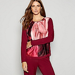 B by Ted Baker - Red floral print 'Porcelain Rose' pyjama top