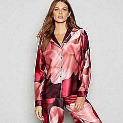 B by Ted Baker - Red floral print 'Porcelain Rose' satin pyjama top
