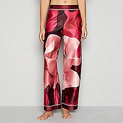 B by Ted Baker - Pink floral print satin 'Porcelain Rose' pyjama bottoms