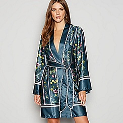 B by Ted Baker - Green floral print 'Unity' satin dressing gown