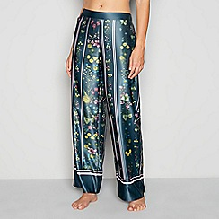 B by Ted Baker - Green floral print 'Unity' pyjama bottoms