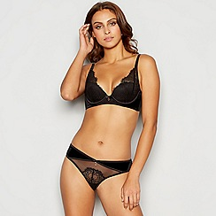 B by Ted Baker - Black lace underwired padded plunge bra