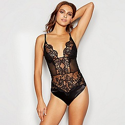 Reger by Janet Reger - Black lace mesh body
