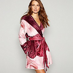 B by Ted Baker - Wine red floral print 'Porcelain Rose' dressing gown