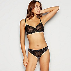 ace8f836440 B by Ted Baker - Black lace non-padded plunge bra