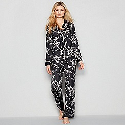 Nine by Savannah Miller - Black Bamboo Printed Pyjama Set