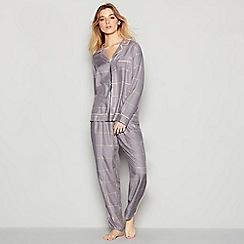 Nine by Savannah Miller - Grey Check Print Pyjama Set