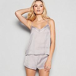 Nine by Savannah Miller - Grey Star Pattern Cami and Short Pyjama Set