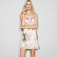 No. 1 Jenny Packham - Light Pink Floral Print Chemise