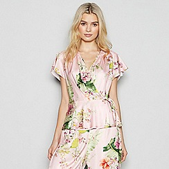 No. 1 Jenny Packham - Light Pink Floral Print Pyjama Set