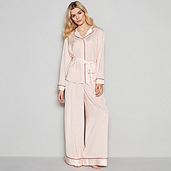 Nine by Savannah Miller - Light Pink 'Revere' Spot Print Pyjama Set