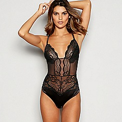 Reger by Janet Reger - Black Floral Lace Body