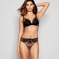 Reger by Janet Reger - Black Embroidered Mesh High Apex Underwired Padded  Plunge Bra 3c837953e