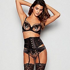 e67394e1bdb94 Reger by Janet Reger - Black Embroidered Mesh Underwired Non-Padded Bra