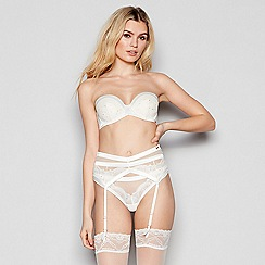 bcccc8f11da7 B by Ted Baker - Ivory Satin Lace 'B Embroidery' Suspender Belt