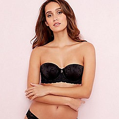 B by Ted Baker - Black rose jacquard balcony bra