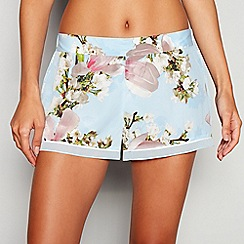 B by Ted Baker - Blue Floral Print  Harmony  Pyjama Shorts