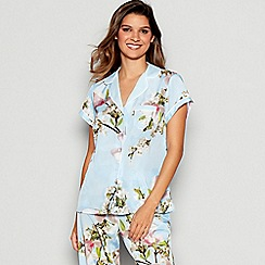 B by Ted Baker - Blue Floral Print Harmony Pyjama Shirt