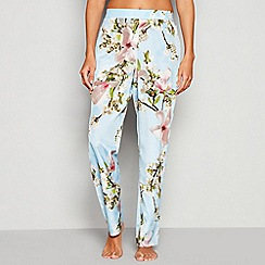 B by Ted Baker - Blue Floral Print 'Harmony' Pyjama Trousers
