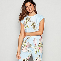 B by Ted Baker - Blue Floral Print Harmony Pyjama Top