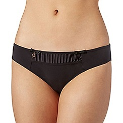B by Ted Baker - Black pleated satin panel hipster briefs