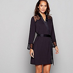 B by Ted Baker - Black lace dressing gown
