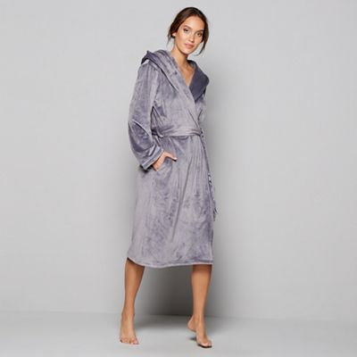 B By Ted Baker Grey Floral Print Porcelain Rose Dressing Gown