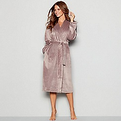 B By Ted Baker Beige Hooded Dressing Gown