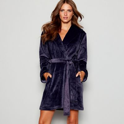B By Ted Baker Dark Grey Embossed Bow Dressing Gown