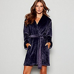B by Ted Baker - Dark grey embossed bow dressing gown