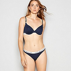 Tommy Hilfiger - Navy cotton blend 'Iconic' underwired padded t-shirt bra