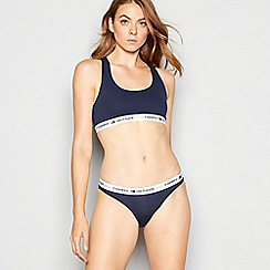 Tommy Hilfiger - Navy 'Iconic' cotton bralette