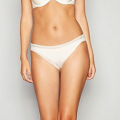 Calvin Klein - Ivory 'Signature' bikini knickers