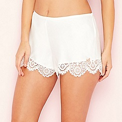 B by Ted Baker - Ivory 'Tie the Knot' lace pyjama shorts