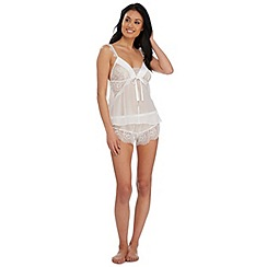 Reger by Janet Reger - Ivory lace bridal cami and shorts set