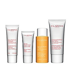 Clarins - Face and body heroes skincare gift set