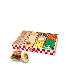 Melissa & Doug - Wooden sandwich making set