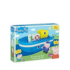 Peppa Pig - Grandpa pig's boat with Grandpa and George (33 pieces)