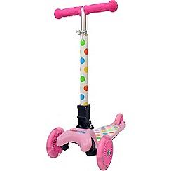 kiddimoto - Pastel Dotty U-Zoom scooter