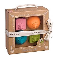 Sophie La Girafe - So'Pure set of 2 balls 2 cubes