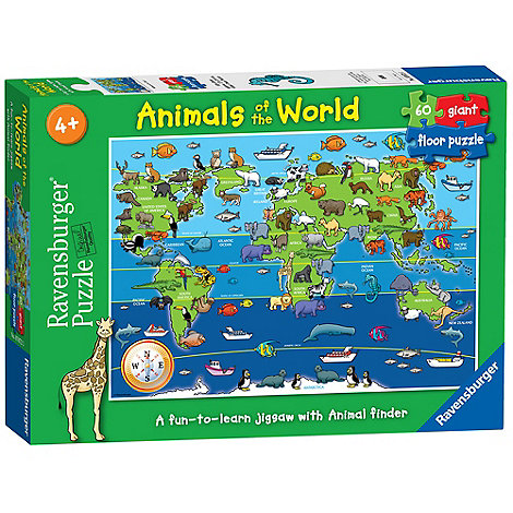 Ravensburger animals of the world giant floor jigsaw puzzle debenhams gumiabroncs Image collections
