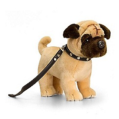 Keel - 30cm Standing Pug on Lead