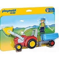 Playmobil - Tractor with Trailer Playset - 6964